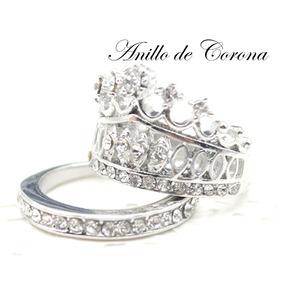 Anillo Corona Princesa Plata Gratis Anillo Brillantes