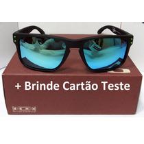 Oculos Holbrook Preto Com Lente Azul - Icone Verde O Moto Gp