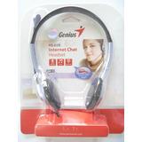 Diadema Genius Hs-02b Microfono Liviano Msn Skype Chat Nuevo