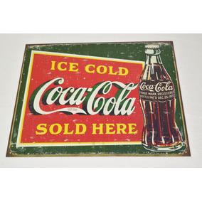 Tsn1393 Letrero Lamina Decorativa Coca Cola Ice Cold