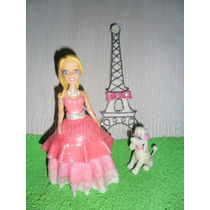 Adorno De Torta Barbie Paris Torre + Perrito Belgrano
