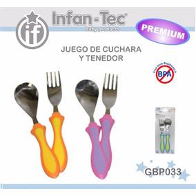 Cubiertos / Cuchara Y Tenedor Metal Para Bebes Y Niños