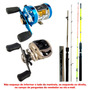 Kit Carretilhas Marine Sports Caster+elite+ 2 Varas