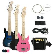 Guitarra Electrica Para Ninos Con Amplificador Y Accesosrios