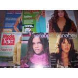 Lote 6 Revistas De Tejidos: Técnicas, Modelos, Moda Y Estilo