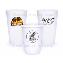 Vasos Impresos Bebidas Calientes Frias Desechables Cafe