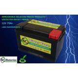 Batería 12 V X 75 Libre Mantenimiento Garantia Sin Usado