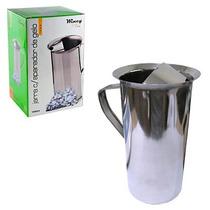 Jarra Inox 1,8 Litros Com Aparador De Gelo Suco Água Cozinha