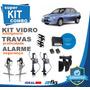 Kit Vidro Elétrico Corsa Classic 2007 4 Portas+alarme+travas