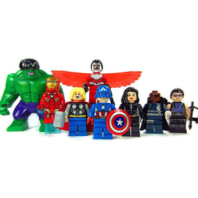 Set 8 Figuras Compatible Lego Avengers Hulk Capitan America