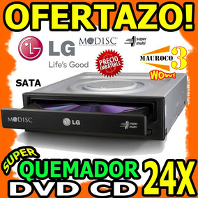 Wow Quemador Dvd Cd Lg Sata Lector 24x Doble Capa Dl Interna
