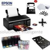 Kit Epson T50 Bandeja,50 Pvc Sistema Tintas+20hfoto+sticker