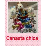 Canasta De Pascuas Chica Con Peluche Y 15 Huevos