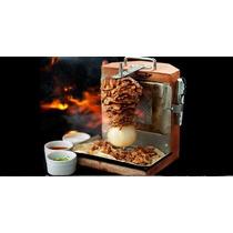 Plato Madera Carne Al Pastor Mini Trompo Mesa Restaurantes