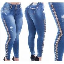 Calça Skinny Jeans Com Detalhe Perna Pit Bull