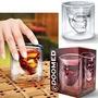 Vaso Calavera Cristal Doomed Grande 10 Cm Whisky Navidad