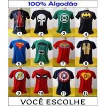 Kit 3 Camisetas Adulto De Super Heróis Em Promoção