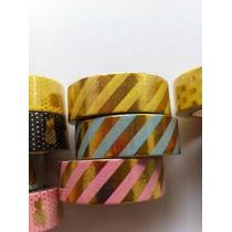 Washi Tape Dourada-abacaxi-metalizada-glittter- Ouro Fita