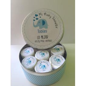 Souvenirs Baby Shower, Nacimientos. Lata Con 32 Jaboncitos