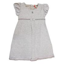 5836 Vestido De Lanilla Con Terciopelo Para Nena Ohlalá!