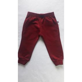 Calça Moletom Infantil Bebê Basica Vermelha Have Fun Hf0381