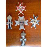 5 Medalha Templários Insignia Cristianismo Frete Grátis