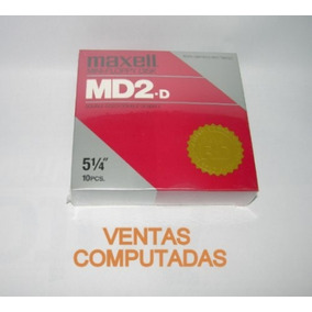 Caja De 10 Diskettes 5 1/4 Nuevos En Celofan - Maxell Md2-d