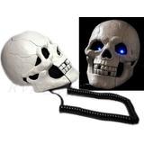 Telefone Crânio Caveira Olhos Acendem Quando Toca