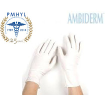 Guante Latex Ambiderm Plus Blanco No Esteril C/100 Pmhyl