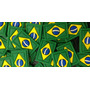 500 Bandeirinhas Do Brasil Para Tiras De Chinelos