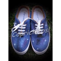 Galaxia Zapatillas Pintadas A Mano