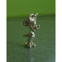 Dije Disney Mickey Mouse Raton Miguelito Mini Plata .925 Vbf