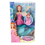 Muñeca Fashion Mermaid Transforma Tu Sirena En Princesa