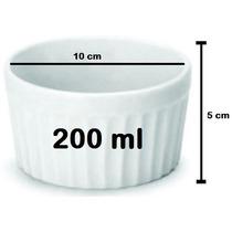 12 Ramequim De Porcelana P/ Buffet 200ml Grande Restaurante
