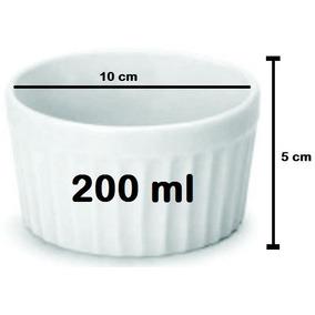 6 Ramequim De Porcelana P/ Buffet 200ml Restaurante Tijela