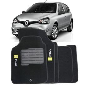Tapete Carpete Clio Personalizado Preto Com Logo - 5 Peças