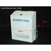 Urna De Acrílico Branco Com Visor E Porta Cupons Madecril