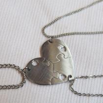 Acero Quirúrgico Dije Corazón Medalla Amistad + 3 Cadenas