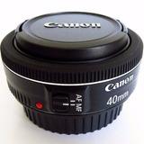 Lente Canon Ef 40mm F/2.8 Stm Pancake F2.8 Original Garantia