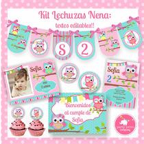 Kit Imprimible Lechuzas Nena