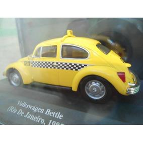 Miniatura Vw Fusca 1985 Taxi Rio De Janeiro 1:43