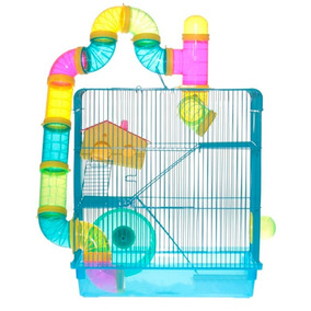 Gaiola Labirinto 3 Andares Para Hamster E Roedores