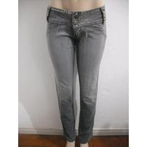 Calça Jeans Feminina Tm 38 Elastico Na Cintura.