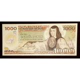 Ganga Billete 1000 Pesos Sor Juana 1985 Crisp