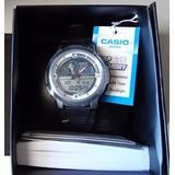 Casio Aqf 102w Termometro E Hora Mundial