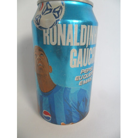 Lata Vazia Latinha Refrigerante Pepsi Ronaldinho Gaúcho 2000