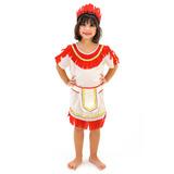 Vestido Fantasia Infantil Indiana Feminina Com Frete Grátis