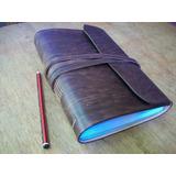 Cuaderno De Cuero Artesanal. Cuaderno De Viaje. A5, 15x21cm
