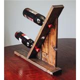 Porta Vinos De Madera Para 3 Botellas