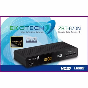 Receptor Digital Terrestre Hd 1080p Ekotech Zbt - 670n Dtv